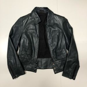 Kate Moss X Top Shop crop leather jacket (4)